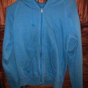 blue women's Nike zip up hoodie